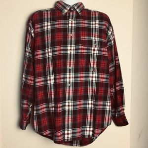 Tommy Hilfiger Red Plaid Flannel Button Down Large
